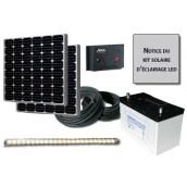 Kit solaire d'éclairage 1 réglette LED 12V 10W
