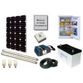 Kit solaire d'éclairage LED 12V 200W avec réfrigérateur