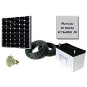 Kit solaire d'éclairage 1 ampoule LED 12V 5W