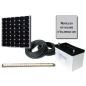 Kit solaire d'éclairage 1 réglette LED 12V 5W