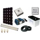 Kit solaire d'éclairage LED 12V 100W