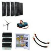 Kit Hybride Solaire Eolienne avec Réfrigérateur 12V 1800Wh