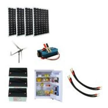 kit hybride solaire eolienne 12v 1800wh avec r frig rateur. Black Bedroom Furniture Sets. Home Design Ideas