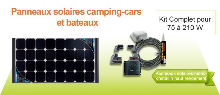 Kit complet de 75W à 210W avec des panneaux solaires monocristallin