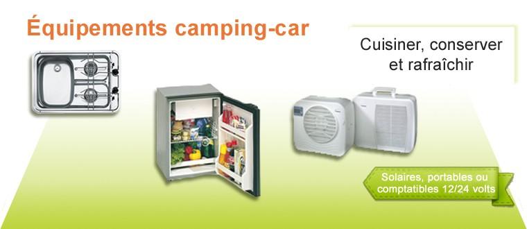 Chauffage, Chauffe-eau, climatiseur, frigo 12V,  glacière électrique et congélateur solaire