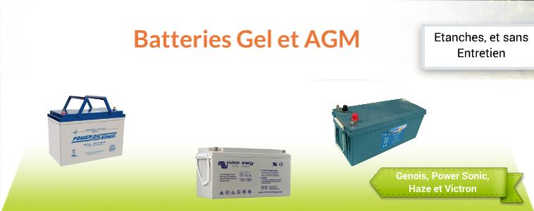 Batteries Gel et AGM Watteo