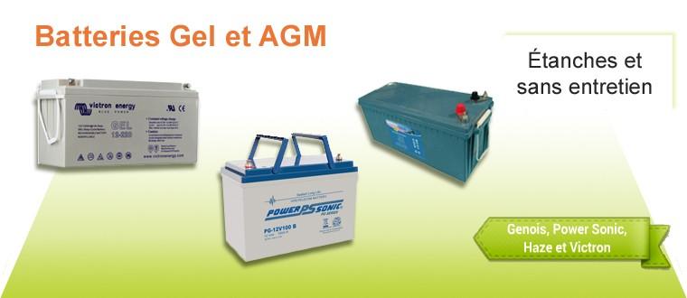 Batterie gel, agm, lithuim, solaire, portable et leusr accessoires