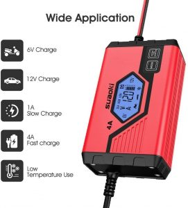 Chargeur de batterie auto Suaoki 4A