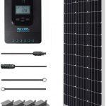 Kit solaire RENOGY 100W avec panneau solaire, contrôleur de charge et câbles