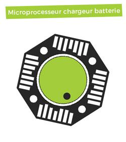 Microprocesseur chargeur de batterie intelligent