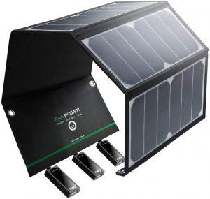 Panneau chargeur solaire pliable et portable RAVPower 24W