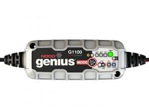 Chargeur automatique de batterie moto et voiture et moto. Le NOCO Génius G1100EU