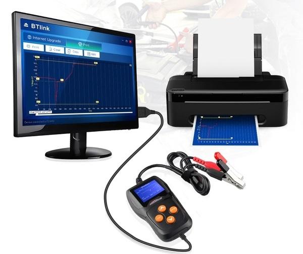 Connectez le testeur de batterie Konnwei KW600 et imprimez vos résultats