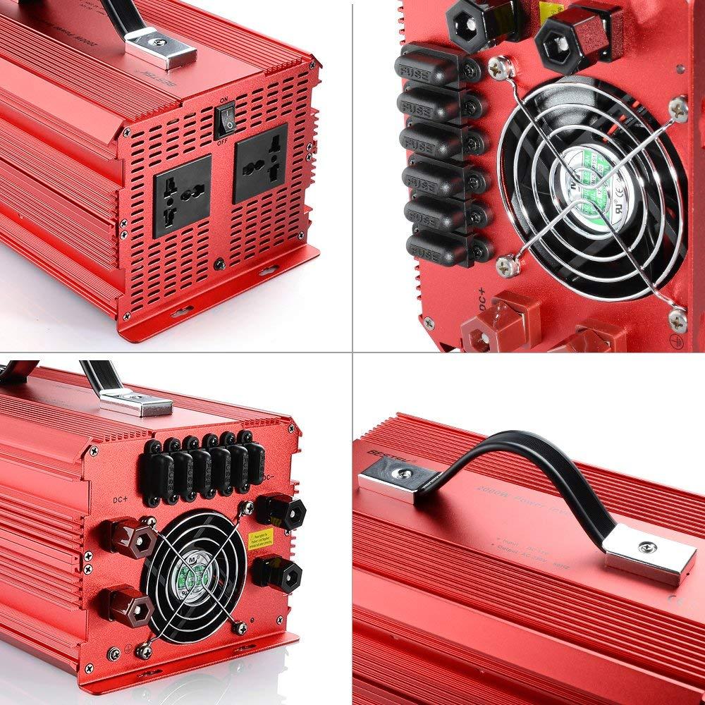 Convertisseur 12-220V Bestek puissant avec ventilateur intégré