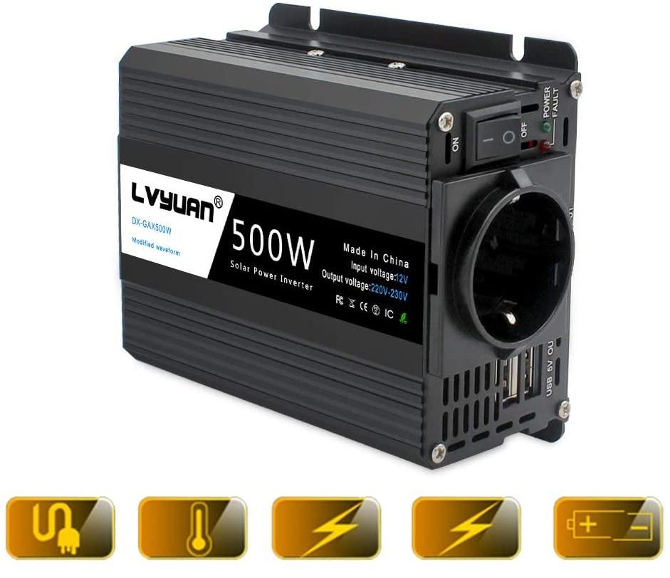 Le convertisseur de tension YINLEADER 500W avec plusieurs systèmes de sécurité