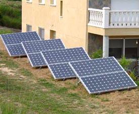 Panneaux solaires montés en parallèle