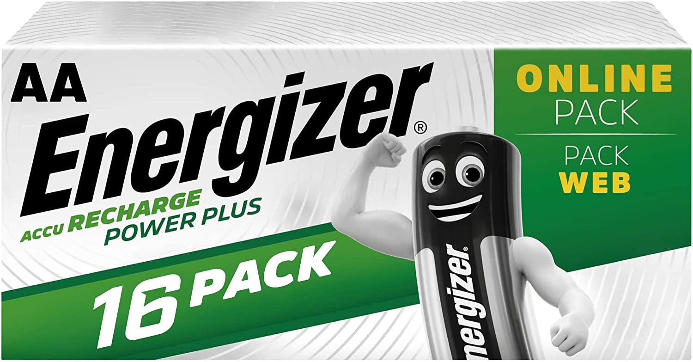 Lot de 16 piles Energizer Recharge Power Plus