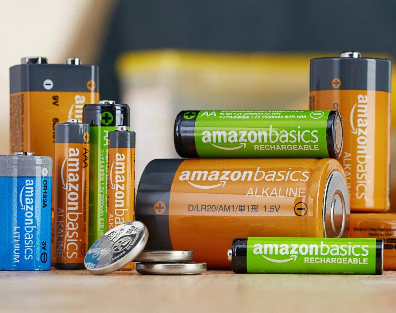 Tous les formats des piles rechargeables proposés par AmazonBasics