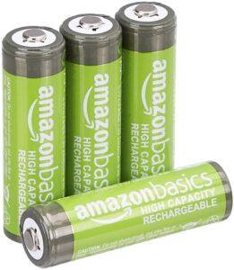 AmazonBasics : lot de 4 piles AA rechargeables