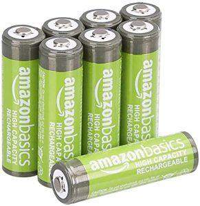 Lot de 8 piles rechargeables AmazonBasics