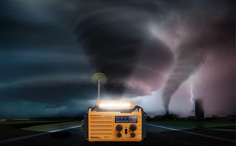 Radio d'urgence et multifonction Mesqool avec accès aux stations météo NOAA