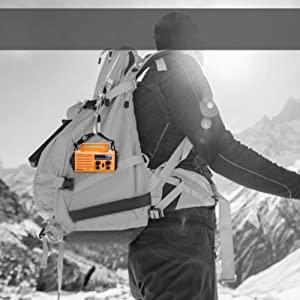 La petite radio solaire Mesqool se transporte partout avec vous, idéal pour les randonnées et campings sauvages