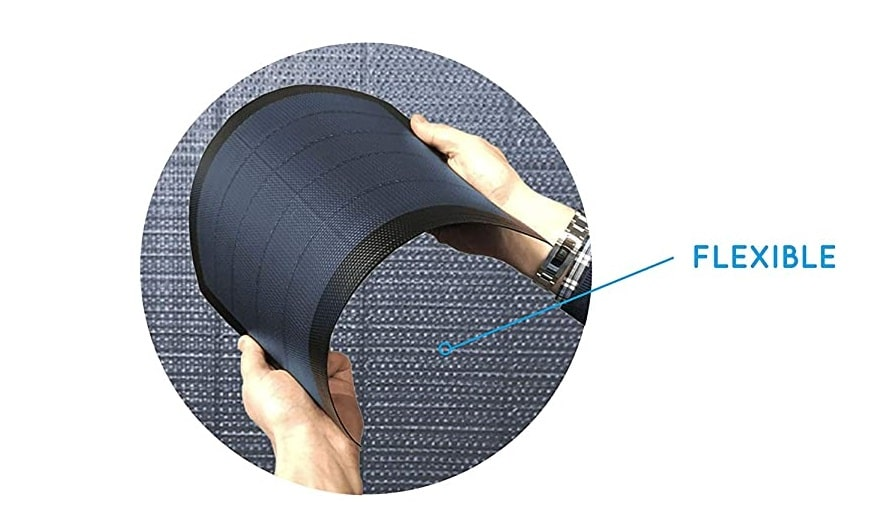 Panneau solaire flexible d'un sac à dos