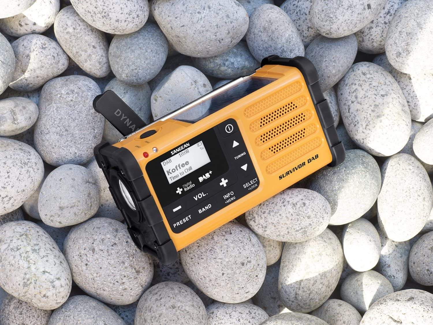 Sangean radio solaire d'urgence multifonction