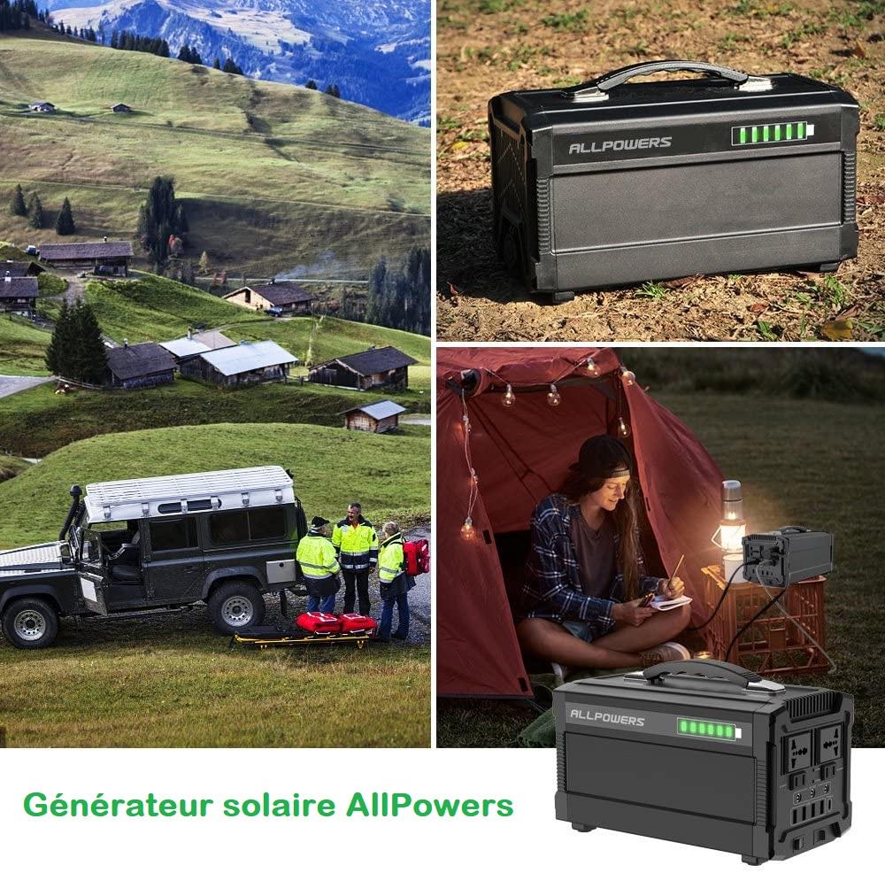 Le générateur portable d'énergie solaire AllPowers qui peut vous suivre lors de toutes vos sorties
