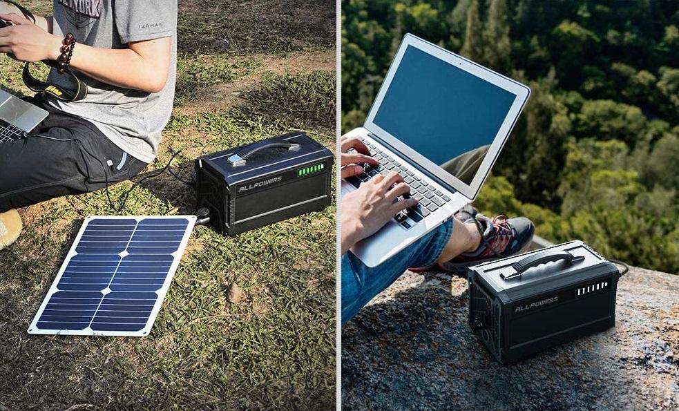 Générateur d'énergie portable qui se recharge par panneau solaire