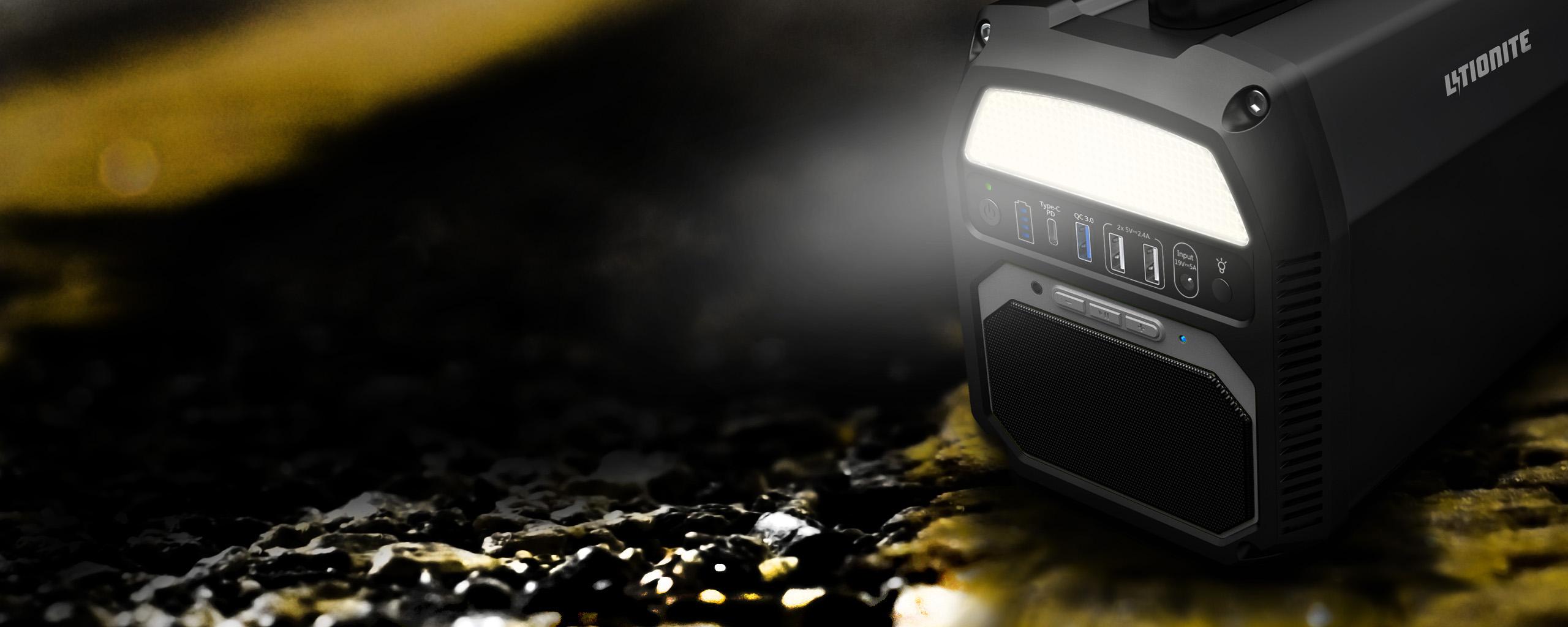 Générateur Litionite Titan avec lampe torche intégrée