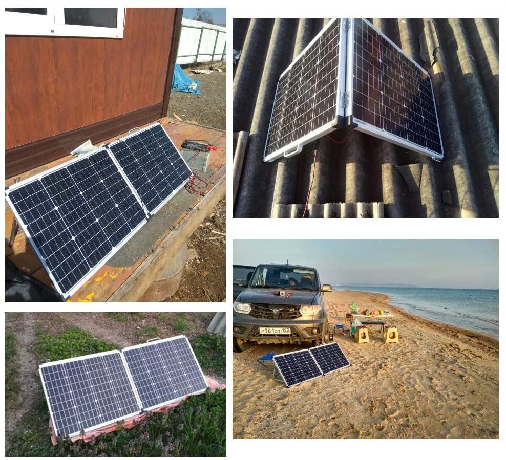 Le panneau solaire pliable Dokio avec régulateur de charge