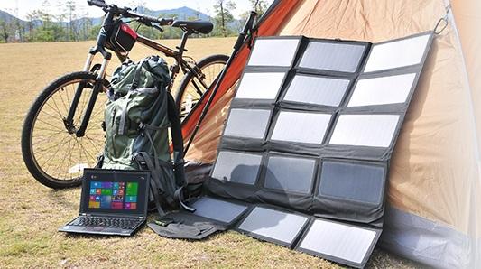 Profitez d'un chargeur solaire portable en camping