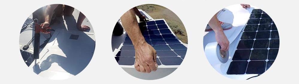 Comment installer un panneau solaire souple sur le toit d'un véhicule ?