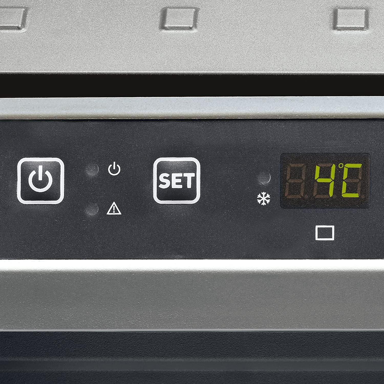 L'écran LCD de la glacière à compression DOMETIC CFX40W avec affichage de la température