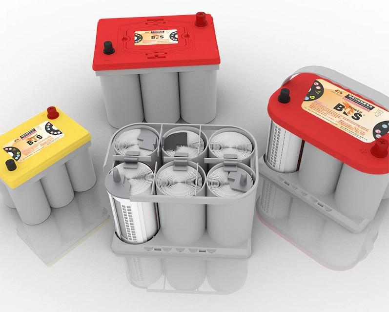 "Batterie Optima au design ""six-pack"" performant"