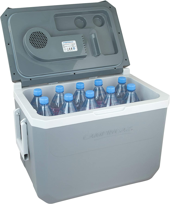 Glacière électrique Campingaz 36L, capacité de 10 bouteilles de 2L en position debout