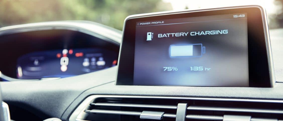 Voiture électrique ou hybride avec une batterie au lithium