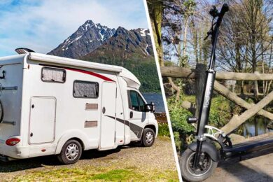 Trottinette en camping-car
