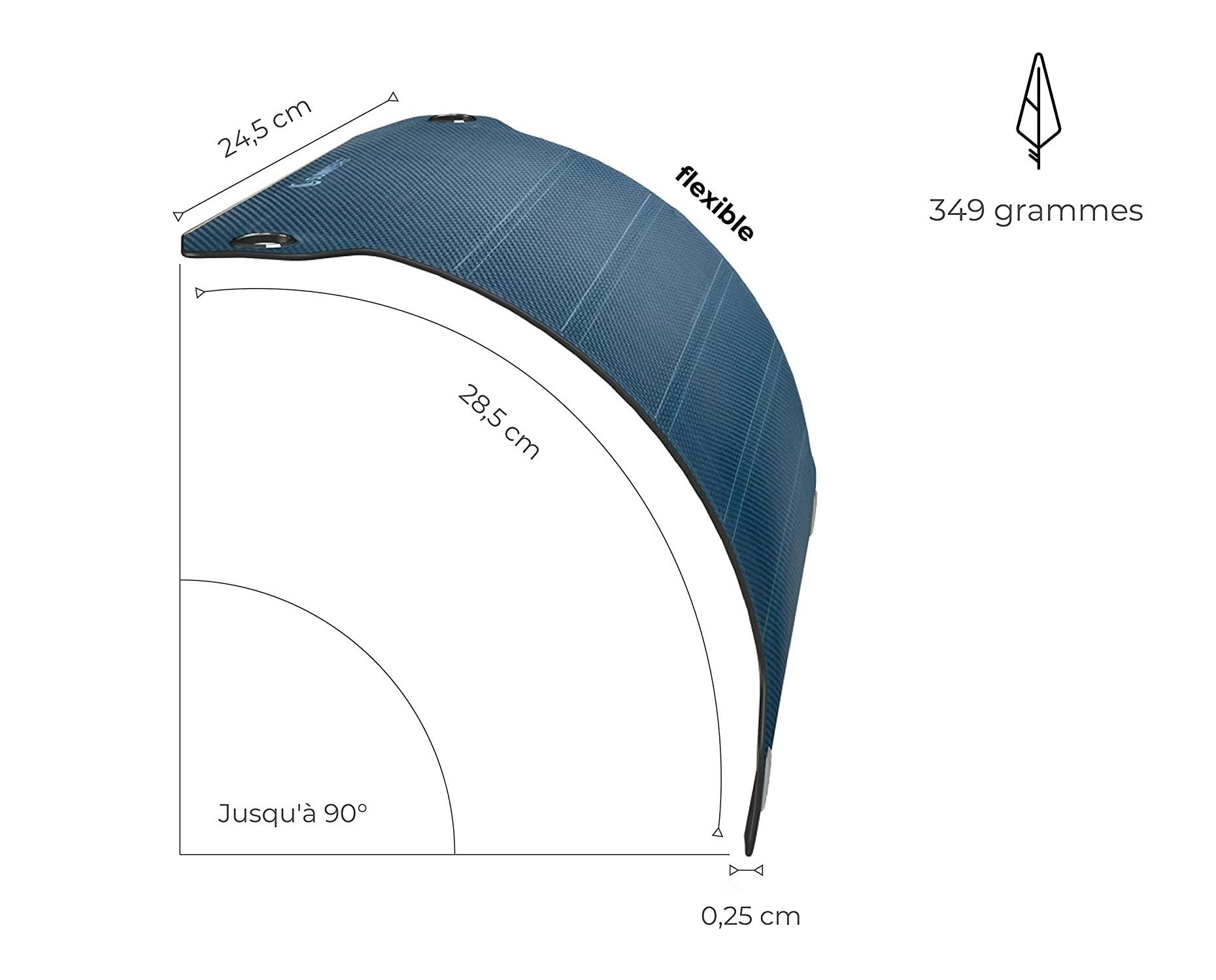 SunnyBAG Lead Pro : Chargeur panneau solaire souple et flexible. Ultra fin, ultra léger
