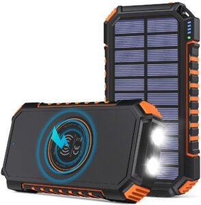 Test et avis du chargeur solaire Hiluckey 26 800 mAh