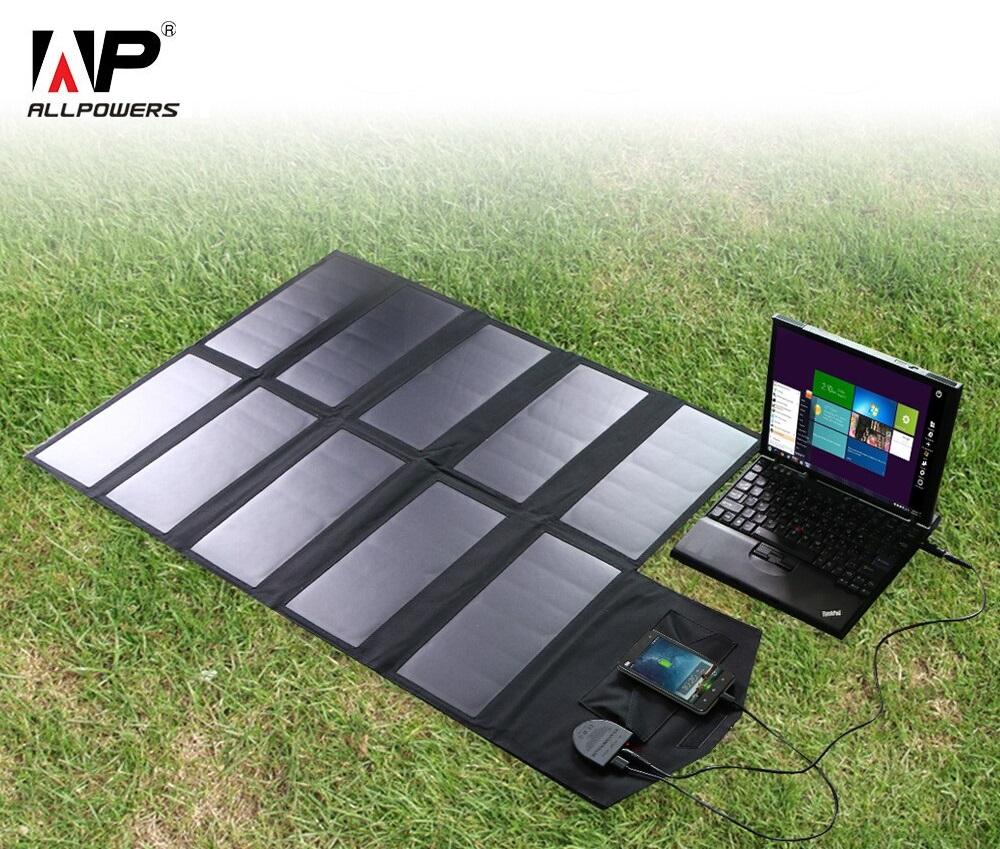 Les chargeurs solaires portables AllPowers avec des panneaux solaires à haut rendement