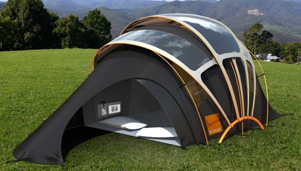 Le nouveau concept : la tente solaire et connectée