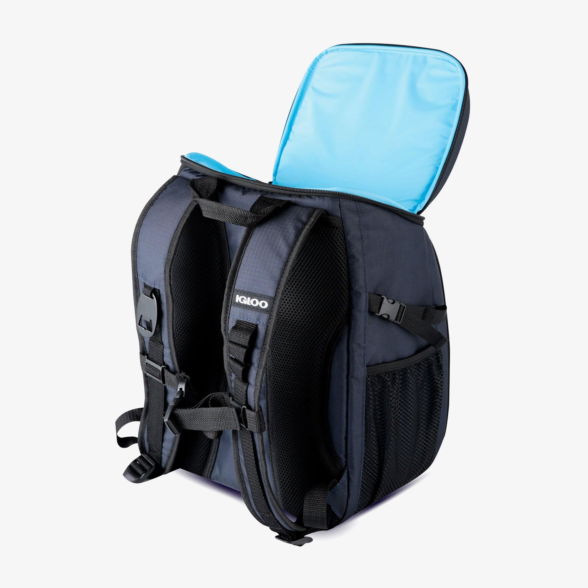 Deux poches isothermes zippées sur le sac à dos isotherme Igloo Gizmo