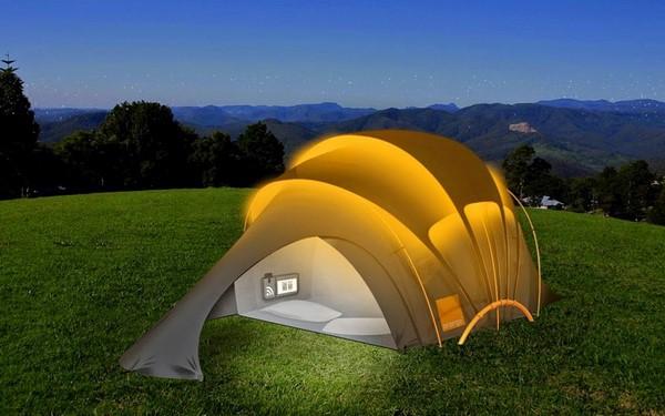 L'astucieux concept de tente solaire et connectée