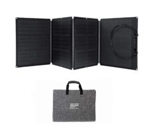 Fiche produit et avis du puissant chargeur solaire portable et pliable EcoFlow 110W