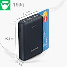 Charmast Mini, banque de puissance au mini format d'une carte de crédit