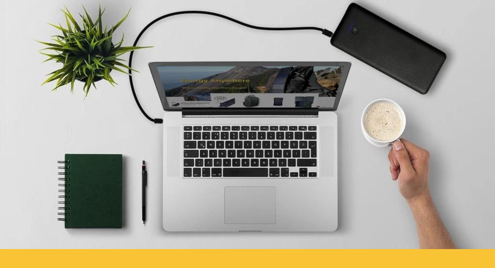 La batterie externe Gravity 45 est pratique et puissante, elle peut recharger un ordinateur portable