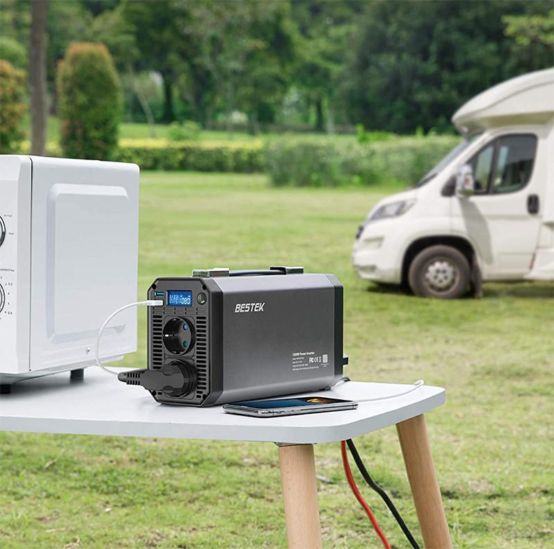 Convertisseur de tension BESTEK 1200W pour vos sorties en camping-car