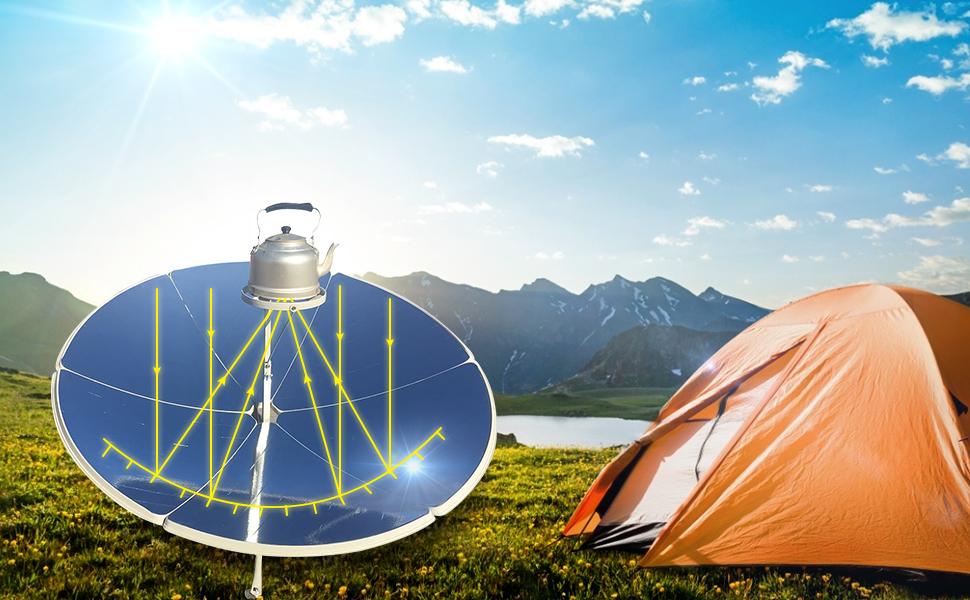 Four solaire parabole TOPQSC idéal pour le camping